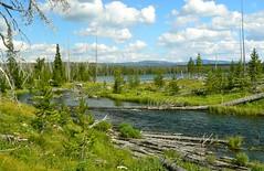 Falls River and Beula Lake (Upstate Dave) Tags: fishing scenery hiking yellowstone fallsriver beulalake
