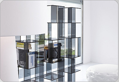 Cubic Glass – An Elegant and Modern Bookcase