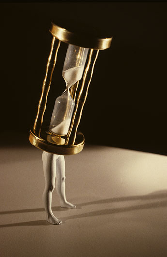 laurie simmons walking hourglass
