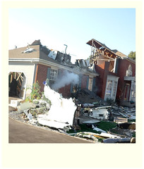 What's Wrong With a Little Destruction ? (thims31) Tags: street los angeles you destruction smoke explosion it boom have franz ferdinand hollywood much universal studios could better fume boum so