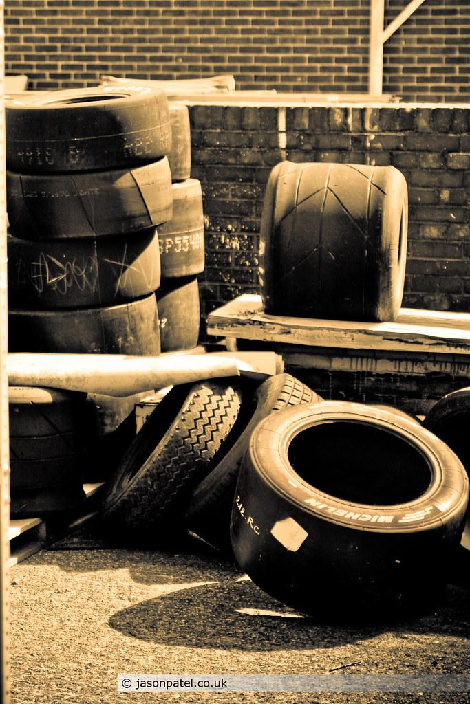 Tyres left in yard (Lola)