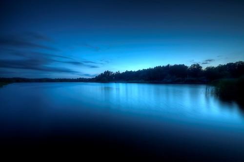 フリー画像| 自然風景| 湖の風景| 青色/ブルー| 夜景| HDR画像|      フリー素材|