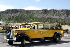 "Original 1936 era White Motor Company Bus returns to Yellowstone (Alan Vernon.) Tags: white bus yellow automobile historic restored yellowstonenationalpark yellowstone motor alanvernon ""copyright2009alanvernon"" model706"