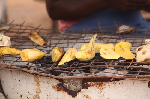 Roasted plantains...