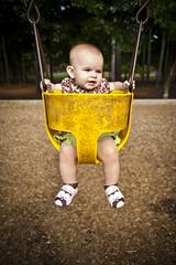 Swing (crashmattb) Tags: park portrait baby color detail girl face photoshop georgia outside dof bokeh daughter swing september abigail plugin marietta 2009 topaz cs3 canoneosdigitalrebelxti sigma1770mmf2845dc abigailjaclyn