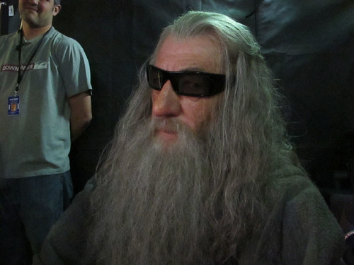 Sir Ian McKellen Watches Gandalf in 3D