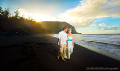 Waipio Valley Wedding (James Rubio) Tags: wedding sunset hawaii amy trent valley bigisland waipio strobist amytrentcluntingerwaipiovalleywedding2011