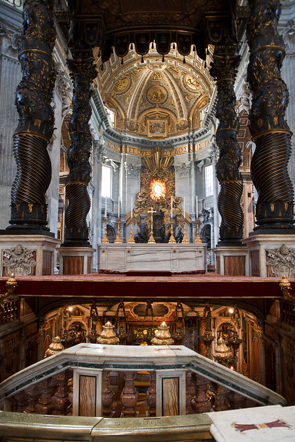 Rome. Inside St. Peter's Basilica
