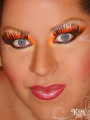 Makeup ( Kitana) Tags: orange drag laranja makeup maquiagem queen vila carnaval isabel gloss 2009 folia transformista