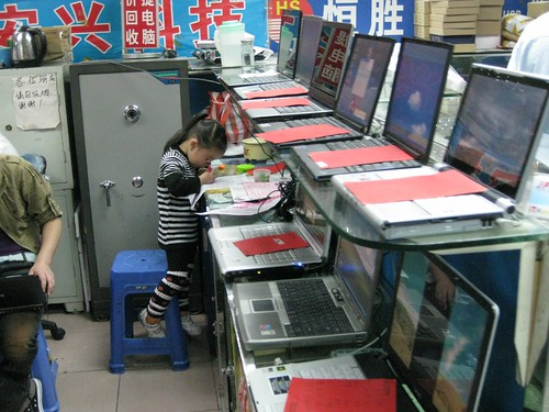 The cheapest markets of electronics, Shenzhen, China