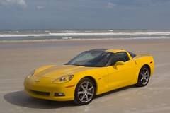 Corvette on Daytona Beach