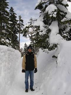 《新穂高》雪の回廊