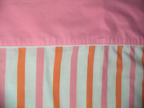 Vintage Pink and Orange Sheet
