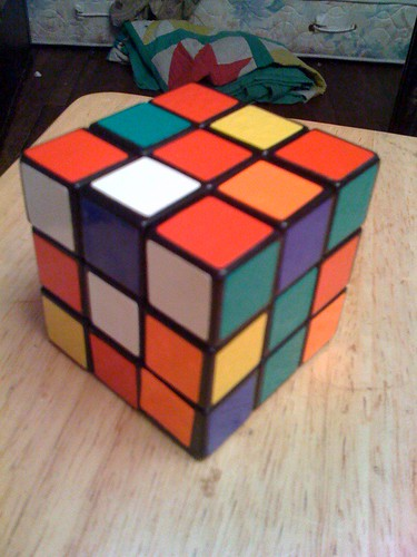 Solving a cube top-bottom-middle 2/7