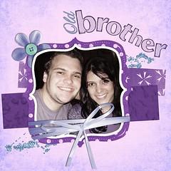 Big Brother (Priscila Stein) Tags: scrapbook scrapbooking brother irmão