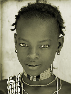 Ethiopia, young man of Banna tribe