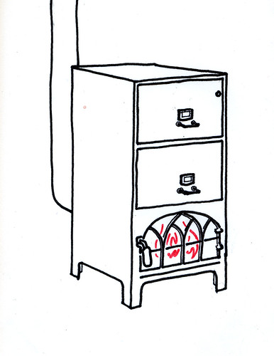 File-burning stove