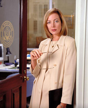 CJ Cregg, ready to slay Republicans with a mere eyebrow.