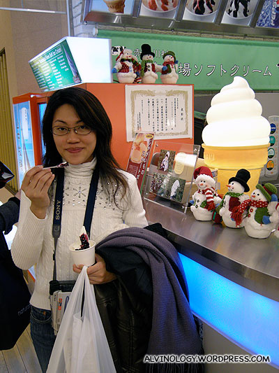 Very delighted with the soft-serve which tasted rich and creamy