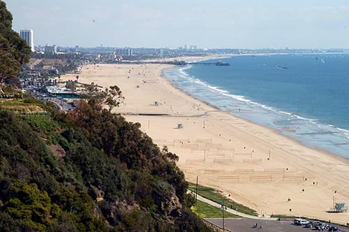 the beach in Santa Monica