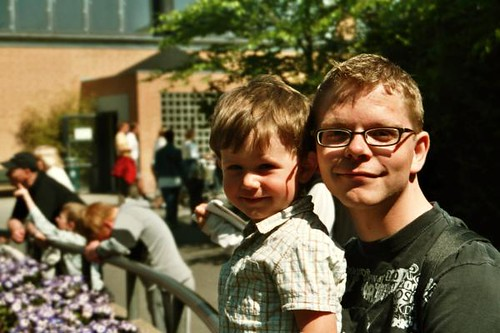 Magnus and me at the zoo