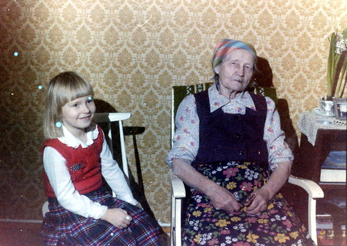 With greatgrandma, 80s