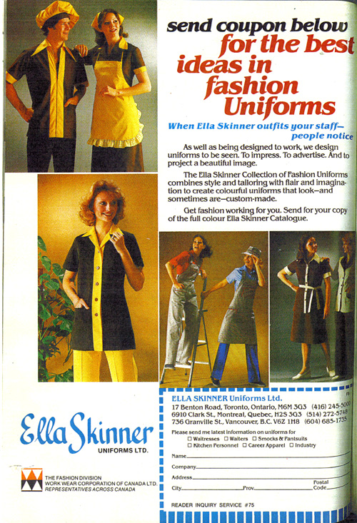 Vintage Ad #766: The Best Ideas in Fashion Uniforms