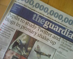Flickr image of Guardian front page