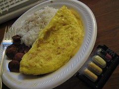 breakfast dinner hawaii rice waikiki sausage eggs honolulu meds prevpac charlieboy808