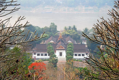 view of royal palace phousi hill, luang prabang