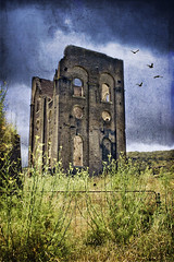 Deserted (aussiegall) Tags: old building furnace blast steelworks lithgow holidayvacation texturesphotoshoppedstormgate ijustrealisedthatididnthaveanyflyingbirdpicturesofmyown birdsbykovicsxc triedmyownbatsbutlookedabitoutofplaceinthedaylight texturesbyprincessofshadowsdeviantart