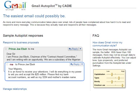 gmailautopilot by you.