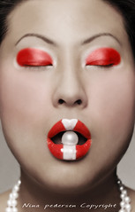 Marit (nina.peder) Tags: red hot colors beautiful contrast lips pearls marit