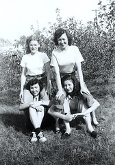 friends, days of innocence (spysgrandson--thanks for 2,000,000 views!) Tags: friends blackandwhite illinois flora friendship 1940s happytimes motherinlaw