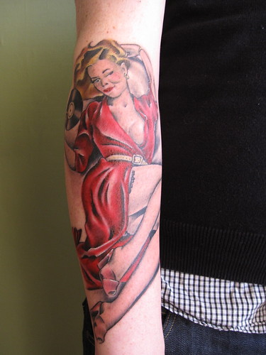 Pin Up Tattoo on Arm