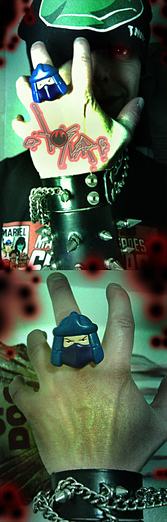 ☠  ☠ NABISCO TMNT - 'Shredder' ring // modified.. by tOkKa  ☠  ☠