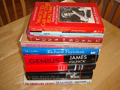 My stack of Richard Feynman books
