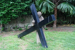 Jesus made to bear His Cross