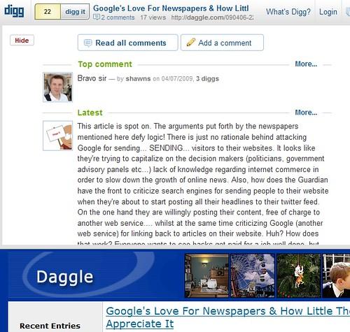 DiggBar & Comments