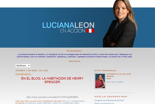 Congresista Luciana Leon Blog