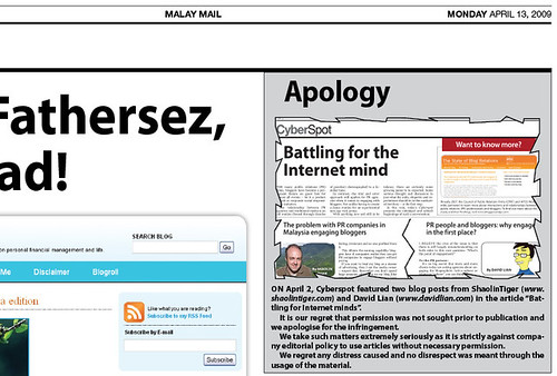 Malay Mail Apology