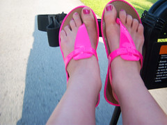 My Toes (dulce626) Tags: pink red feet me shoes toes bahamas 2009 toenails pinkshoes