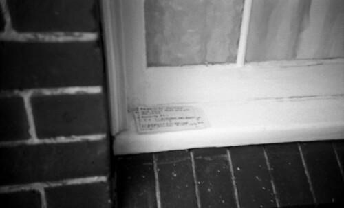 Index cards on a windowsill