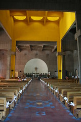 Interior of The New Cathedral, Managua