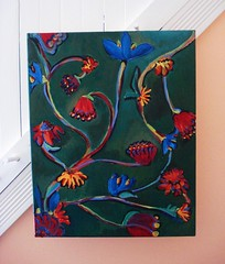 thinking about the garden (On Bradstreet) Tags: flowers painting acrylic whimsical paintedflowers thinkingaboutthegarden