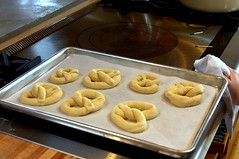 soft pretzels, ready to boil