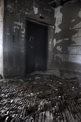 FLOOR (bigkat1249) Tags: wood old ohio urban plant building abandoned boards nikon paint factory floor elevator warped bum dirty dayton decrepid paintchips d40