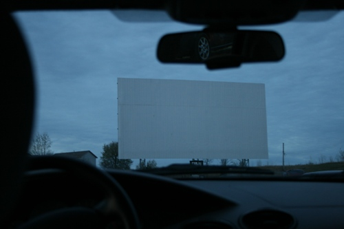 drive in screen from back seat