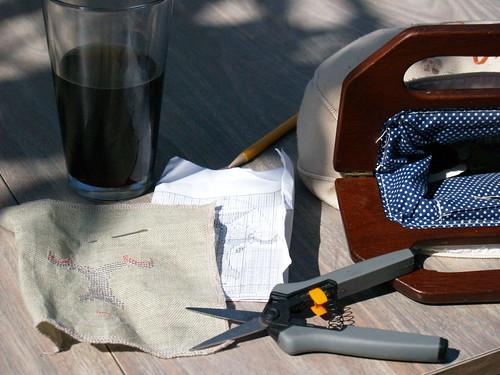 Needlework in the sunshine