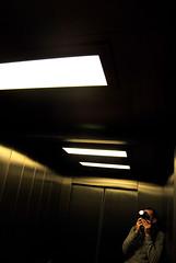 Self Portrait (Peter Rea 13) Tags: camera portrait reflection metal self lights doors lift superaplus aplusphoto